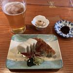 蕎麦切り 旗幟 - 生ビール生ビール&板わさ