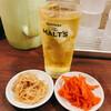 Fukuya - ドリンク写真:ジャスミンハイ380円と無料のピリ辛もやし&紅生姜
