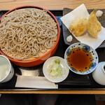 浅川 - 料理写真:満点せいろ & 鱚の天ぷら