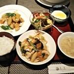 chuugokuryourichimmin - 6回目(2020・11)酢豚定食(サラダ、玉子スープ、杏仁豆腐、ご飯¥1375