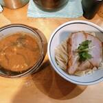 煮干麺 新橋 月と鼈 - 濃厚煮干しつけ麺(並盛)