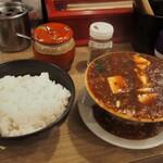 堂山食堂 - こぼし麻婆豆腐 & 白ご飯