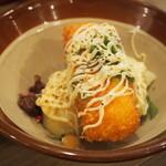堂山食堂 - 堂山ポテトサラダ(味付けをする)