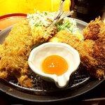 串亭 - 「鯵フライと地鶏つくねカツ(2020.11)