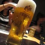 14355428 - ヱビス生ビール (ぽぱいさん直伝アングルにて)