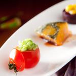 菜食志向 - 【まずはスターターの三品!】季節の野菜を温菜、冷菜織り交ぜて。