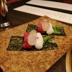 Ushigoro Ginza - 北海ボタン海老と和牛の手巻き