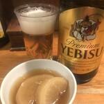 尾崎 - 瓶ビールに大根の煮物