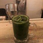 たこ剛 - 緑茶割り  濃い〜