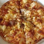 ピザドゥ - ザクセン(M);2種類のブルストとベーコンが美味い! じゃがいも(キタアカリ?)が甘い! @2012/08/16
