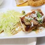六ツ美食堂 - 鶏肉のソテー ネギポン酢