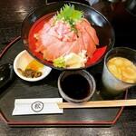 丸松 - まぐろ丼(大盛) ¥858-
