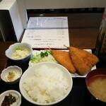 143576761 - アジフライ定食