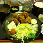海陽 - カキフライ定食1200円