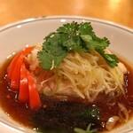 中国料理 琥珀 - 大山鶏のむしどり 葱生姜の香り醤油ソース
