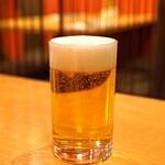 中国料理 琥珀 - 生ビール