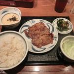 ねぎし - 豚旨辛焼セット