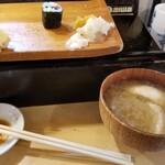 魚がし寿司 - お椀。