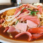 スパゲッティハウス ヨコイ - ハム、ソーセージ、多い。ミラネーゼ強い。