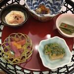 篝火の湯 緑水亭 - 前菜 五種盛り合わせ