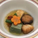 篝火の湯 緑水亭 - 炊き合わせ 蕎麦の実餡