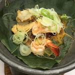 篝火の湯 緑水亭 - 海鮮朴葉焼き 女将味噌仕立て