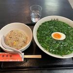 中華料理 多来福 - ニラそば炒飯セット1150円(税込)
