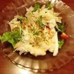 大阪王将 - 前菜のワンタンサラダ