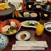 宮島グランドホテル 有もと - 料理写真:朝食。軽めでちょうど良い。あなごの一夜干しが美味しかった。コーヒーなどのフリードリンクコーナーもあり。