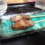 古太神 - 「飛騨牛ステーキ串焼き」(600円)