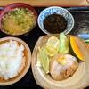 豚花百万石 - 料理写真:【2020/12】とんまる+半ライス定食+もずく酢