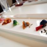 恵泉 - ランチの前菜盛りあわせ