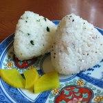 きり麺や西岡 - おにぎり1個50円×2個