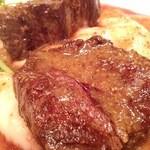 ビストロ ドゥーブル - ステーキランチ(牛ハラミのステーキ150g)
