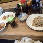 中華そば 味 - 唐揚、餃子、半炒飯付きの満腹セット