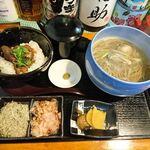 Azuminoan - 熟成十割そばと炙り牛タンのスープ茶漬けセット 2020.12