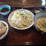 がんじゅうおばぁの台所 ゆらてぃく - ソーメンちゃんぷるー定食(850円)