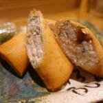 酒カネダ - 鶏ムネとみつ葉の梅肉春巻き