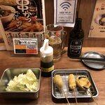 串かつ でんがな - ちょい呑みセット(つくね・チキン・なす))