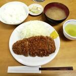 とんかつ いちかつ - ロースかつ定食(700円)