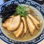 麺や 貴一 - 料理写真:濃厚煮干中華850円 チャーシュートッピング200円