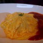 290種類のオムライス 洋食屋バンフィール - トマトソース&明太子クリーム