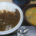 14367074 - カツカレー(竹)+豚汁(大)