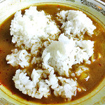 大衆食堂正広 - 「カレーラーメン」のスープに「ライス」投入!