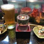 亀すし - 日本酒スタート