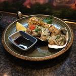 亀すし - 殻付き牡蠣