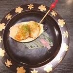 酒肴 大阪まんぷく堂 - 鱈白子 タコ焼き風