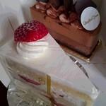 ケルクショーズ - 料理写真:ショートケーキとドゥ・ショコラ