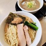 麺の風 祥気 - 濃厚鶏搾りつけそば(塩) 900円 + 大盛り100円