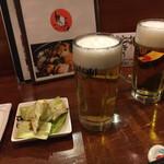 鳥長 - 生ビール(ドライ)